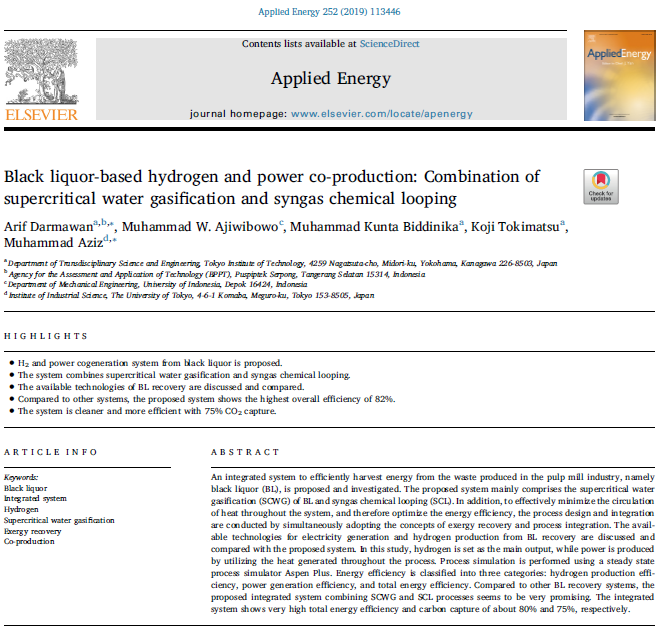 Black liquor-based hydrogen and power co-production: Combination of supercritical water gasification and syngas chemical looping