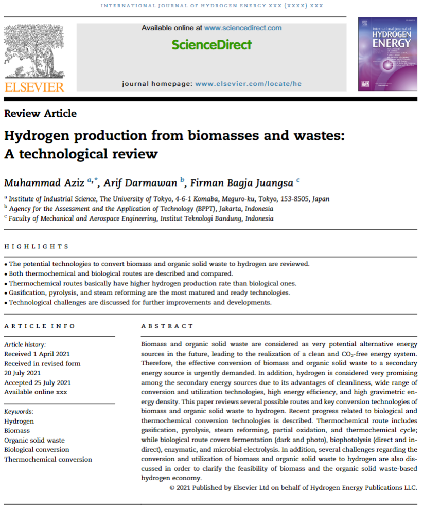 Hydrogen production from biomasses and wastes: A technological review